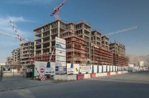 Baustellen in Katar sind verwaist im Juni 2017 - viele asiatische Bauarbeiter sind schon nach Haus geflohen