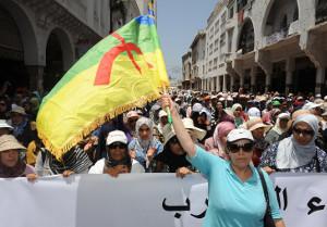 Demonstration in Rabat am 11.6.2017 - die grösste seit langem - es geht über die Solidarität mit den rif-Protesten weit hinaus
