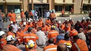 Tourah Belegschaft vor Gericht: In Kairo demonstrierten die Zementarbeiter gegen die Verurteilung ihrer Kollehen am 9.6.2017