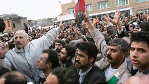 Demonstration iranischer Zuckerarbeiter am 17.7.2017