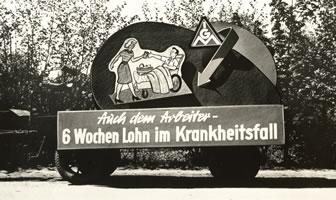 Kampf für die Lohnfortzahlung im Krankheitsfall 1958 in Peine. Foto: IG Metall-Zentralarchiv