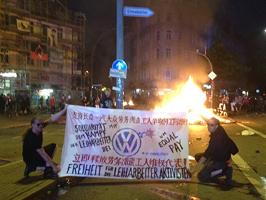 Solidarität mit VW-Leiharbeitern in China