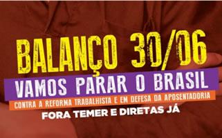 """30. Juni 2017 in Brasilien: """"Streiks für demokratische Rechte"""""""