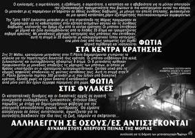 Polizeiüberfall auf die Proteste im Lager Moria auf Lesbos am 18. Juli 2017: #FreeTheMoria35