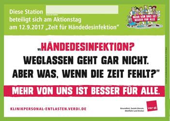 bundesweiter Aktionstag Händedesinfektion am 12.9.2017