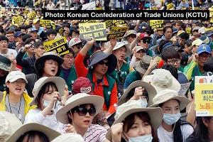 Rund 60.000 in Seoul beim Auftakt des Prekärenstreiks des KCTU