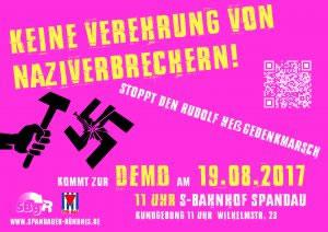 Auf nach Spandau! Den Hess-Marsch am 19.08. verhindern!