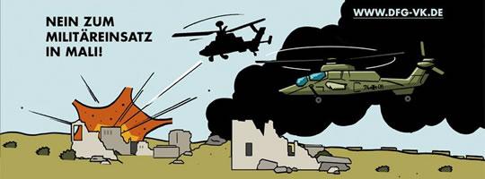 DFG-VK: Nein zum Militäreinsatz in Mali