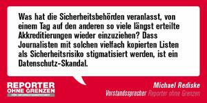 G20-Gipfel in Hamburg: RoG zu Polizeigewalt gegen Pressefreiheit