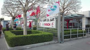 Streikparolen Bosch Bari