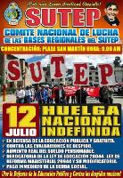 Streikplakat der peruanischen Opposition in der Lehrergewerkschaft Juli 2017