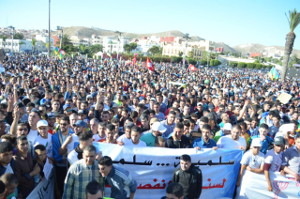 Protest in Al Hoceima nach dem Tod Attabis 11.8.2017
