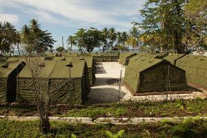 Das Lager auf Manus Island - Tausende Kilometer von australien entfernt