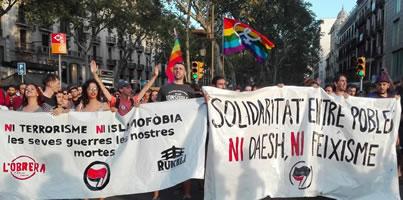 Demo gegen das Attentat in Barcelona am 18.8.2017
