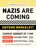 Mobilisierungsplakat San Francisco Antifa 27.8.2017