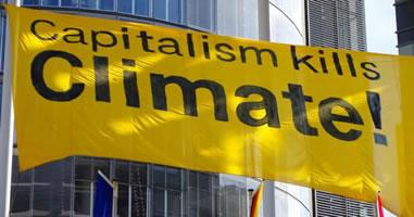 """Capitalism kills climate"""