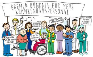 Bremer Bündnis für mehr Krankenhauspersonal