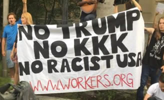 USA: No Trump, no KKK, no racist USA