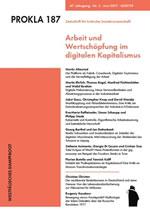 """Ausgabe der PROKLA 187 mit dem Schwerpunkt """"Arbeit und Wertschöpfung im digitalen Kapitalismus"""""""