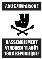 Pariser Streikplakat 11.8.2017