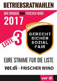 BR-Wahl UPS Hannover: Neuwahlen am 18. und 19.09.2017, Liste ver.di-Frischer Wind