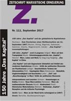 """Zeitschrift Marxistische Erneuerung """"Z"""", Nr. 111 (September 2017): """"150 Jahre Das Kapital und der globalisierte Kapitalismus"""""""