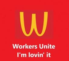 McDonalds Streiksoli-Plakat