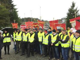 Seit dem 8.9.2017 im streik: Polnische und litauische Arbeiter in Norwegen Fischindustrie