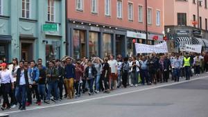 15.8.2017 Stockholm: Afghanische Jugendliche gegen Abschiebung