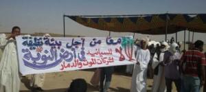 Einer der vielen Proteste gegen giftigen Goldabbau im Sudan - hier im August 2017