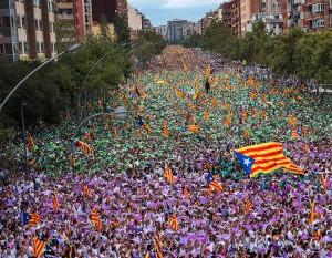 Barcelona am 20.9.2017: Massendemo gegen Notstand