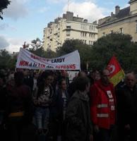 Paris, gestrige Mobilisierung: Abordnung aus der Automobilindustrie. Foto von Bernard Schmid vom 12.9.2017