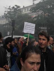 """Paris gestern: """"Die Faulenzer"""" nehmen sich einen Tag frei (gegen Eure Reform). Foto von Bernard Schmid vom 12.9.2017"""