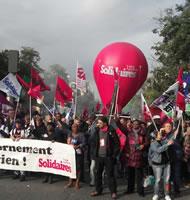 Paris gestern: Union syndicale Solidaires. Foto von Bernard Schmid vom 12.9.2017