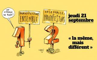 21. September 2017 war in ganz Frankreich der zweite Aktionstag gegen Macrons Loi Travail 2 - durchaus gespalten