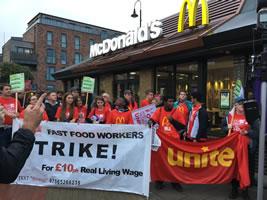 Großbritannien: McDonalds-Streikende am 4.9.2017