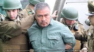 Festgenommen: Ein Organisator des Mapuche Protest in Chile am 24.9.2017