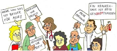Hamburger Bündnis für mehr Personal im Krankenhaus