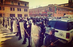 Demo gegen Freispruch für Todesschützen - Polizeiaufmarsch St. Louis am 16.9.2017