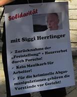Porsche bedroht Vertrauensmann Siegmar Herrlinger mit fristloser Kündigung