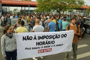 30.8.2017 der erste Streik bei VW Portugal gegen Samstags-Zwangsarbeit