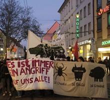 Protest nach Hausdurchsuchung in Freiburg am 26.10.2017: Billigung von Straftaten bei G20 Medienarbeit?
