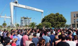 Trotz Boykott der Merhehitsgewerkschaft CCOO - die Streikversammlungen bei Navantia im Oktober 2017 waren stets massiv befolgt