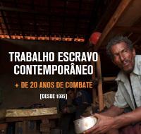Reporter Brasil. Titelseite einer Broschüre gegen Sklavenarbeit in Brasilien