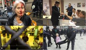 Wahlbeteiligung der Polizei in Katalonien