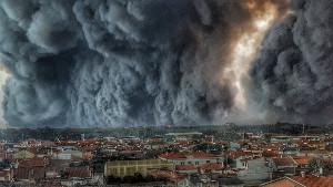 Die Waldbrände vor Vigo am 16.10.2017