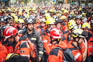 Beim Generalstreik am 3.10.2017 war es nicht eben das Großkapital, das durch Barcelona demonstrierte...