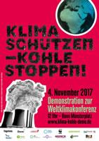Demo am 4.11.2017 in Bonn: Klima schützen - Kohle stoppen!