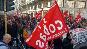 Demo Mailand beim Basisgeneralstreik 27.10.17