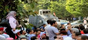 Demonstration für die Freilassung der Aktivisten der Steuergewerkschaft in Kairo am 5.10.2017